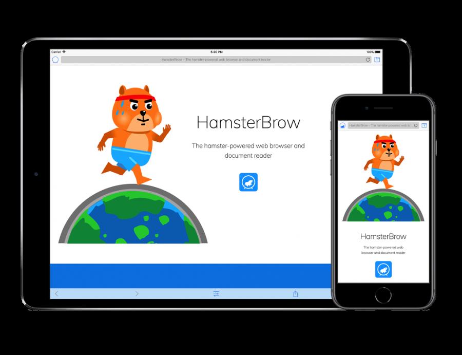 HamsterBrow on iPad and iPhone