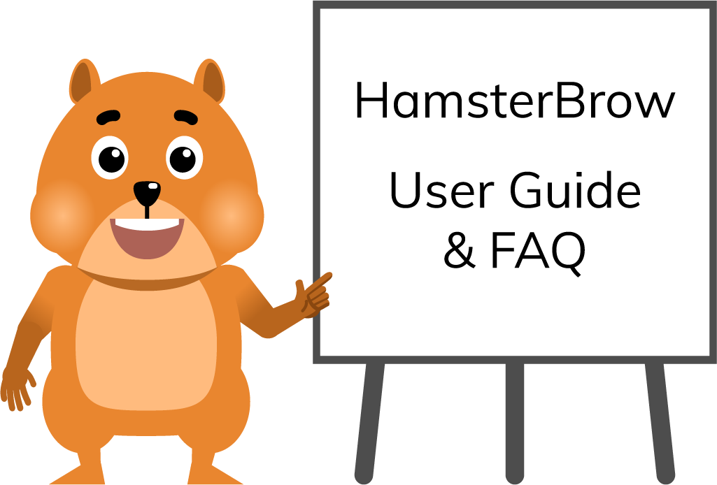 Hamster teacher with User Guide and FAQ flipchart