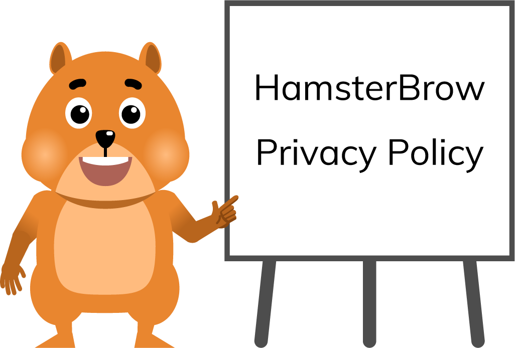 Hamster teacher with Privacy Policy flipchart